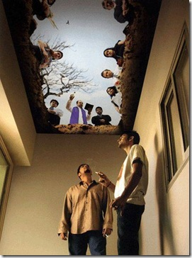 smokers lounge ceiling